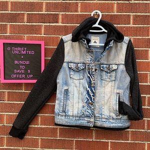 ARDENE distressed hooded denim jean jacket